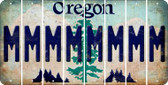 Oregon M Cut License Plate Strips (Set of 8) LPS-OR1-013
