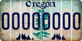 Oregon O Cut License Plate Strips (Set of 8) LPS-OR1-015