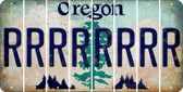 Oregon R Cut License Plate Strips (Set of 8) LPS-OR1-018