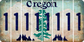 Oregon 1 Cut License Plate Strips (Set of 8) LPS-OR1-028