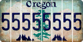 Oregon 5 Cut License Plate Strips (Set of 8) LPS-OR1-032