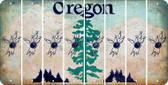 Oregon BOWLING Cut License Plate Strips (Set of 8) LPS-OR1-059
