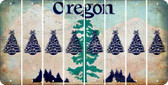 Oregon CHRISTMAS TREE Cut License Plate Strips (Set of 8) LPS-OR1-077