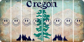 Oregon SMILEY FACE Cut License Plate Strips (Set of 8) LPS-OR1-089