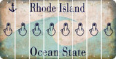 Rhode Island MIDDLE FINGER Cut License Plate Strips (Set of 8) LPS-RI1-091