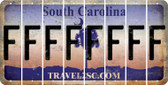 South Carolina F Cut License Plate Strips (Set of 8) LPS-SC1-006