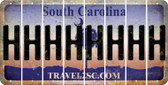 South Carolina H Cut License Plate Strips (Set of 8) LPS-SC1-008