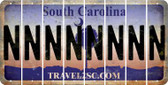South Carolina N Cut License Plate Strips (Set of 8) LPS-SC1-014
