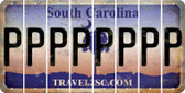 South Carolina P Cut License Plate Strips (Set of 8) LPS-SC1-016