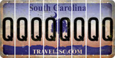 South Carolina Q Cut License Plate Strips (Set of 8) LPS-SC1-017