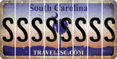 South Carolina S Cut License Plate Strips (Set of 8) LPS-SC1-019
