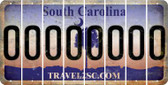 South Carolina 0 Cut License Plate Strips (Set of 8) LPS-SC1-027