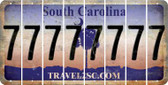 South Carolina 7 Cut License Plate Strips (Set of 8) LPS-SC1-034