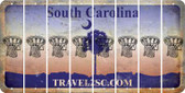 South Carolina BASKETBALL HOOP Cut License Plate Strips (Set of 8) LPS-SC1-058