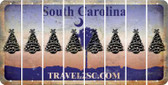 South Carolina CHRISTMAS TREE Cut License Plate Strips (Set of 8) LPS-SC1-077