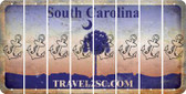 South Carolina ANCHOR Cut License Plate Strips (Set of 8) LPS-SC1-093