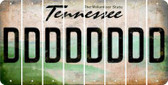 Tennessee D Cut License Plate Strips (Set of 8) LPS-TN1-004