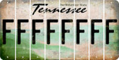 Tennessee F Cut License Plate Strips (Set of 8) LPS-TN1-006