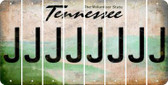 Tennessee J Cut License Plate Strips (Set of 8) LPS-TN1-010