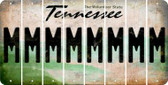 Tennessee M Cut License Plate Strips (Set of 8) LPS-TN1-013