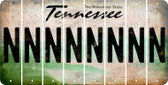Tennessee N Cut License Plate Strips (Set of 8) LPS-TN1-014
