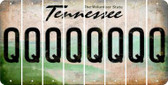 Tennessee Q Cut License Plate Strips (Set of 8) LPS-TN1-017