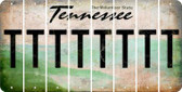 Tennessee T Cut License Plate Strips (Set of 8) LPS-TN1-020