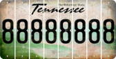 Tennessee 8 Cut License Plate Strips (Set of 8) LPS-TN1-035