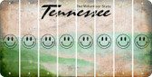Tennessee SMILEY FACE Cut License Plate Strips (Set of 8) LPS-TN1-089