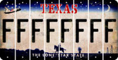 Texas F Cut License Plate Strips (Set of 8) LPS-TX1-006