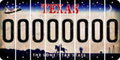 Texas O Cut License Plate Strips (Set of 8) LPS-TX1-015