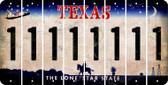 Texas 1 Cut License Plate Strips (Set of 8) LPS-TX1-028