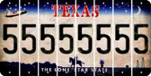 Texas 5 Cut License Plate Strips (Set of 8) LPS-TX1-032