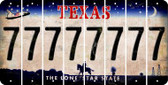 Texas 7 Cut License Plate Strips (Set of 8) LPS-TX1-034