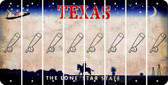 Texas BASEBALL WITH BAT Cut License Plate Strips (Set of 8) LPS-TX1-057