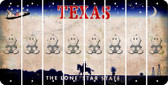 Texas BABY BOY Cut License Plate Strips (Set of 8) LPS-TX1-066