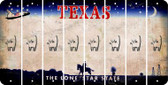 Texas CAT Cut License Plate Strips (Set of 8) LPS-TX1-072