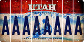Utah A Cut License Plate Strips (Set of 8) LPS-UT1-001