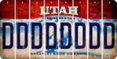Utah D Cut License Plate Strips (Set of 8) LPS-UT1-004