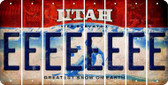 Utah E Cut License Plate Strips (Set of 8) LPS-UT1-005