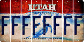 Utah F Cut License Plate Strips (Set of 8) LPS-UT1-006