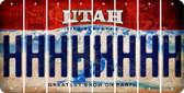 Utah H Cut License Plate Strips (Set of 8) LPS-UT1-008