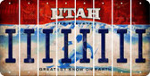 Utah I Cut License Plate Strips (Set of 8) LPS-UT1-009