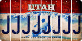Utah J Cut License Plate Strips (Set of 8) LPS-UT1-010