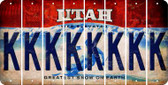 Utah K Cut License Plate Strips (Set of 8) LPS-UT1-011