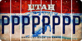Utah P Cut License Plate Strips (Set of 8) LPS-UT1-016