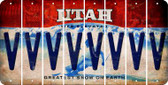 Utah V Cut License Plate Strips (Set of 8) LPS-UT1-022