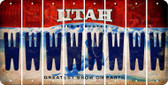 Utah W Cut License Plate Strips (Set of 8) LPS-UT1-023