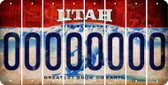 Utah 0 Cut License Plate Strips (Set of 8) LPS-UT1-027
