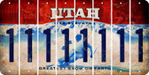 Utah 1 Cut License Plate Strips (Set of 8) LPS-UT1-028